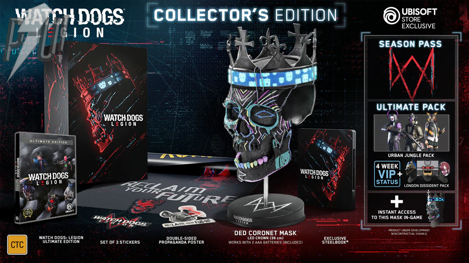 Watch Dogs Legion Collector S Edition Comes With A Wearable Led